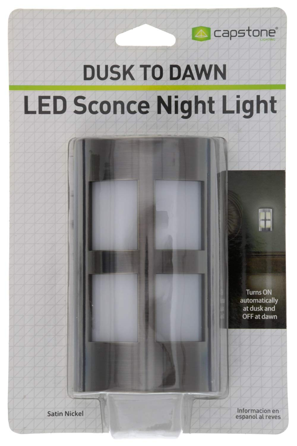 Amazon.com: Capstone Dusk to Dawn LED Plugin Night Light–Automatic Dusk to Dawn Sensor Feature,Decorative Sconce Lights Up Your Home,No Batteries ...