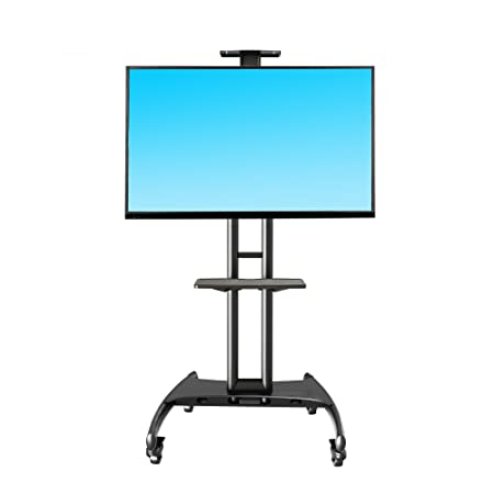 North Bayou Mobile Cart TV Stand with Mount for LED LCD Plasma Flat Panel Screens and Displays 32 To 65 Inch (Black) TV Wall & Ceiling Mounts at amazon
