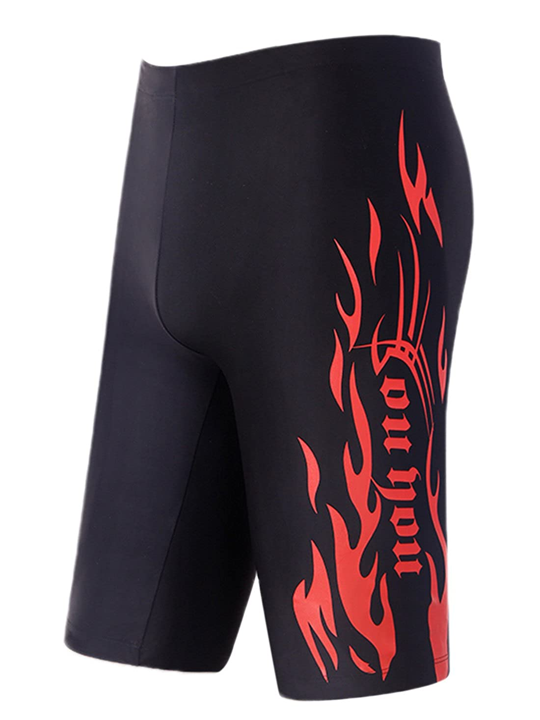 Mens Splice Jammer Compression Low Waist Swim Trunk Quick Dry Swimsuit Swimwear Panegy