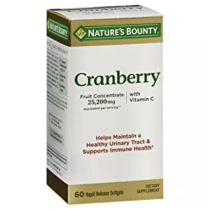 Nature's Bounty Cranberry Dietary Supplement 60 Soft Gels
