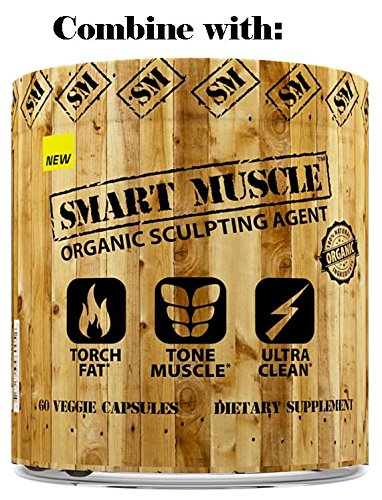 SMART MUSCLE 3-in-1 NATURAL PERFORMANCE AMP - Ultra Clean TOTAL Muscle Defining Preworkout Experience with Fat Shredding Matrix and Muscle Building BCAA Blend - 100% NON-GMO Ingredients - Wild Berry