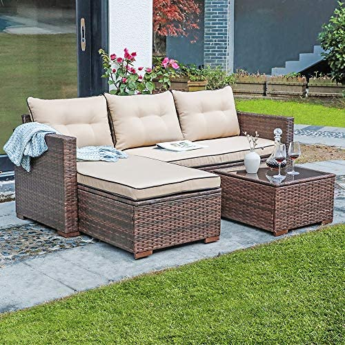 JOIVI Patio Conversation Set
