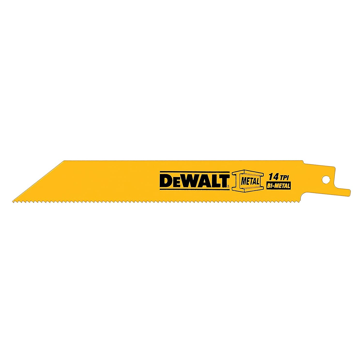 DEWALT DW4838 12-Inch 14 TPI Straight Back Bi-Metal Reciprocating Saw Blade (5-Pack)