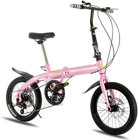 LQ&XL 16 Pulgadas Plegable De Aluminio Bicicleta De Paseo Mujer ...