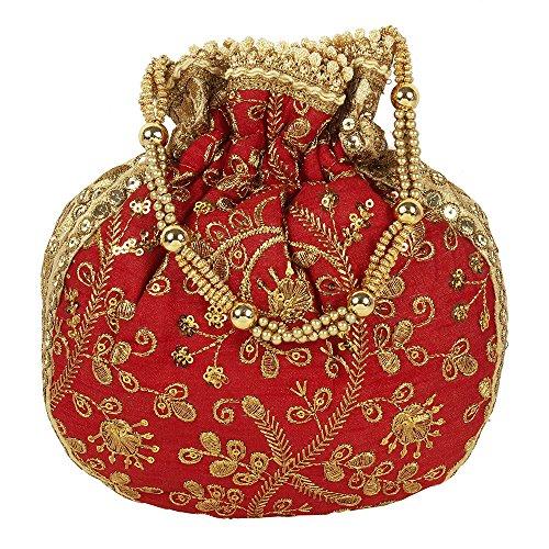 Sac à Collection Superbe main main à Colured ethnique Rouge Polti Broderie Sac femme pour Swdpgfqw