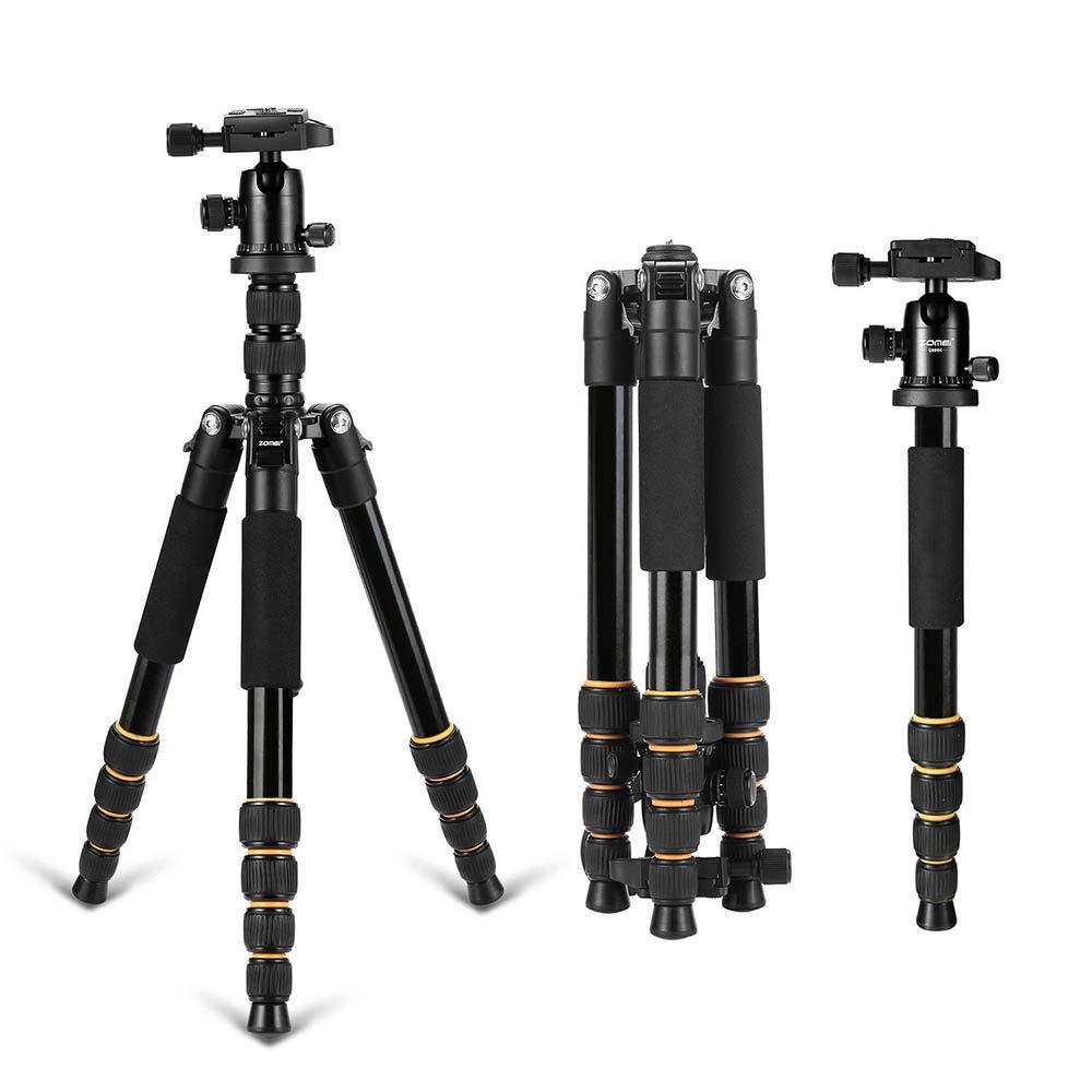 LWL 軽量ポータブルプロフェッショナル三脚カメラ一脚 アルミニウムコンパクトボール デジタル一眼レフカメラ用   B07MCNQT21