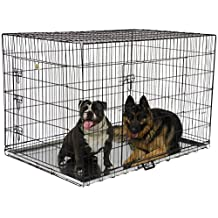 Go Pet Club MLD-54 54-Inch Metal Dog Crate with Divider