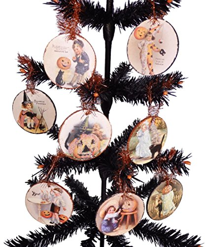 Bethany Lowe Halloween Vintage Inspired Images Hanging Disc Ornaments