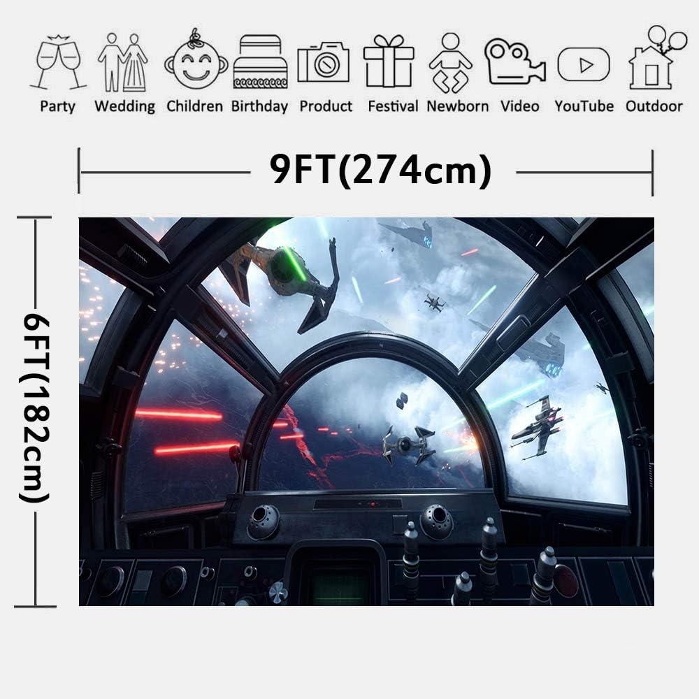 Amazon.com: LUCKSTY Star Wars - Fondo para fotografía de ...