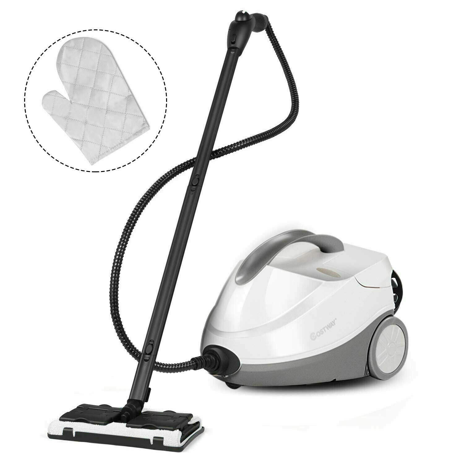 Alek...Shop Steam Cleaner System Heavy Duty Multi-Purpose Steam Cleaning 4.5 Bar 2000W. Dual Tank System, Kitchen Floor Home Hotel