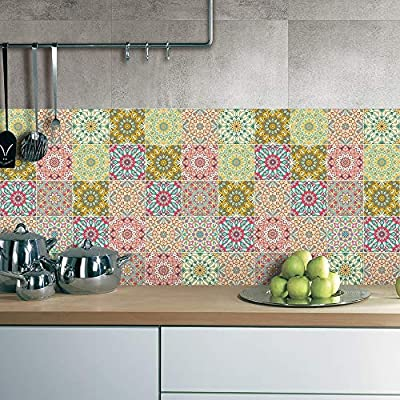 Jy Art 25 Piezas 20x20 Cm Vinilos Decorativos Azulejos Vintage