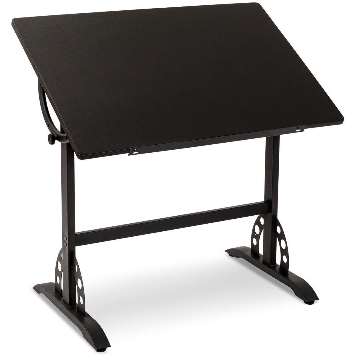 Adjustable Drafting Table Art & Craft Station Hobby Drawing Desk Black Vintage