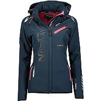 Geographical Norway REINE LADY - Softshelljas voor dames, waterdicht - outdoorjas met capuchon - winddicht - winterproof…