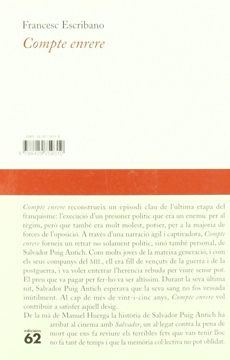 Compte enrere: La història de Salvador Puig Antich: Amazon.es ...