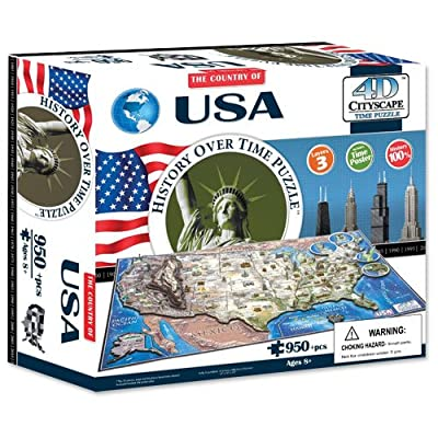 4D Cityscape USA History 3D Puzzle | Trending Creative Gift Ideas