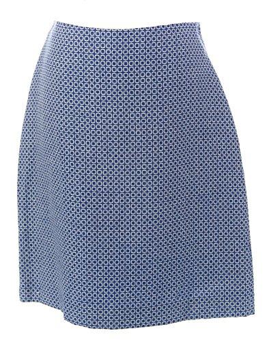 BODEN Women's British Wool Printed Skirt, Blue, US 14L (Boden Skirt Wool)