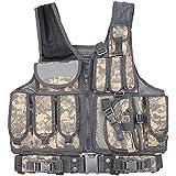 MOLLE Veste de chasse en plein air Tactique Militaire Armée Combat Airsoft Wargame Armure Vêtements Gilet avec des pochettes