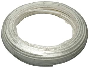 "Zurn Q0PC100 PEX Hot/Cold Potable Non-Barrier Icemaker Tubing Coil, 1/8"" Diameter, 100' Length, 0.125"" OD, Plastic, White"