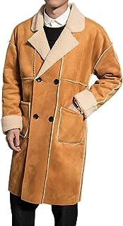 da Uomo Cappotto Nnen Moda Fleece Addensare Trench Cappotto Chic Lungo Antivento Invernale Giacca Parka Casual Trench Soprabito Outwear