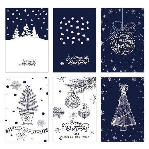 Lomsarsh 6pcs / Set Creative Retro Christmas Greeting Card ...