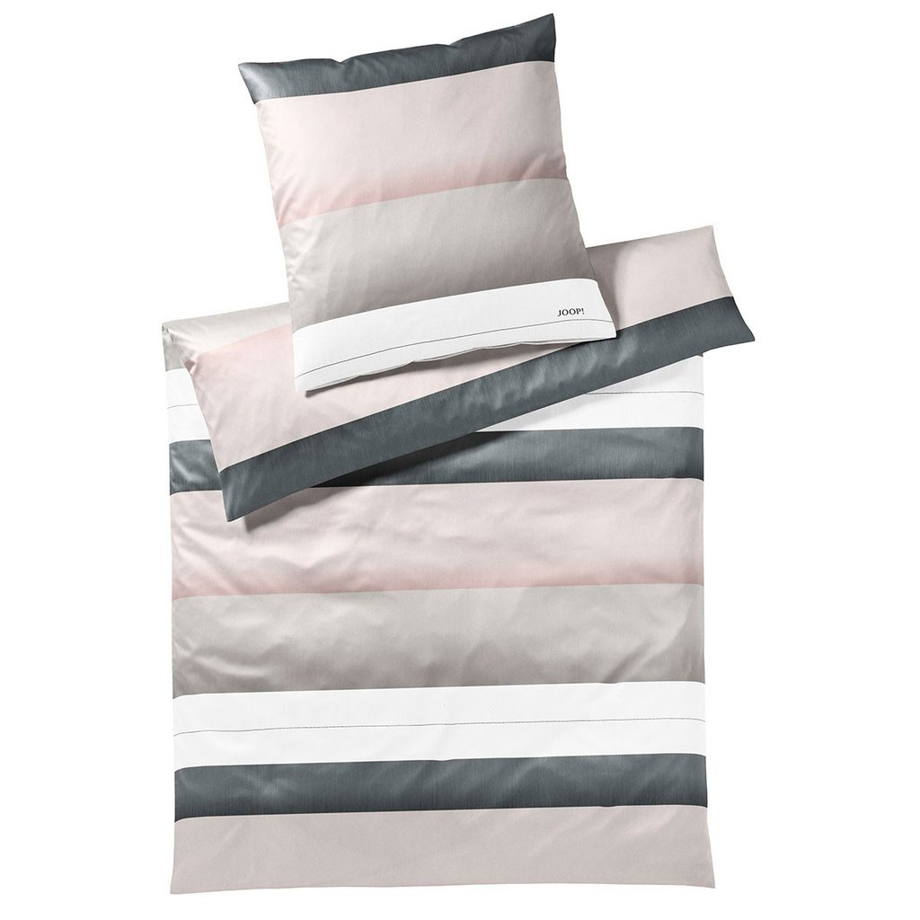 Leinenmeister JOOP  4073 11 Bettwäsche Purity Set (Rose, 135 x 200 cm + 80 x 80 cm) incl. GRATIS Taschentuch