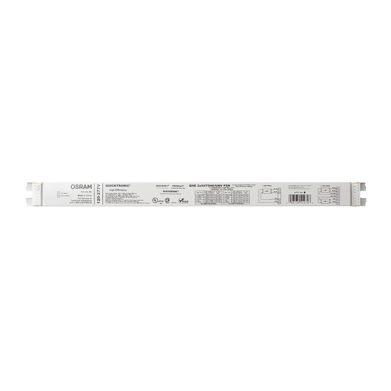 QuickTronic QHE-2x54T5HO/UNV PSN Fluorescent Lamp Ballast, UNV Voltage, 50/60Hz Sylvania