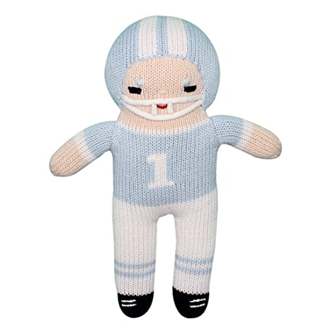 cbee2a797 Amazon.com  Zubels 100% Hand-Knit Football Player Plush Doll Toy in ...