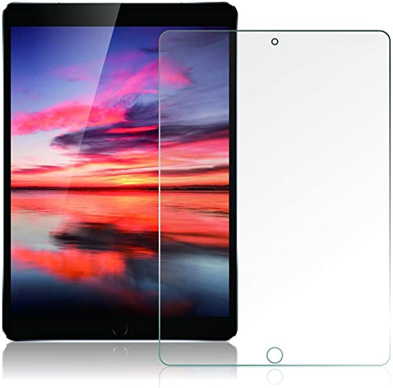 iPad 7th Gen Screen Protector 2 Pack KIQ Tempered Glass Fits iPad 10.2 Bubble-Free Self-Adhere Clear Easy to Install Screen Protector for Apple iPad 7th Generation 10.2-inch 2019