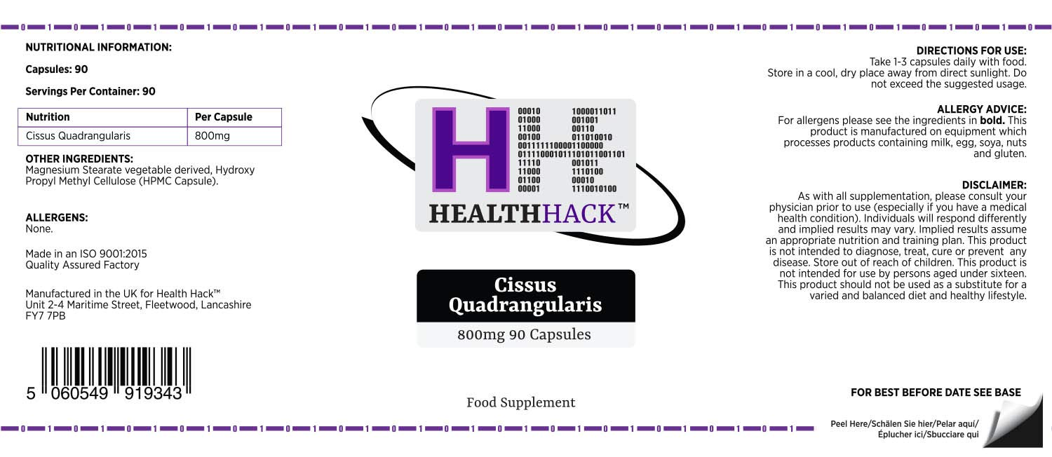 Health Hack - Cissus Quadrangularis, 800 g, 90 cápsulas: Amazon.es ...