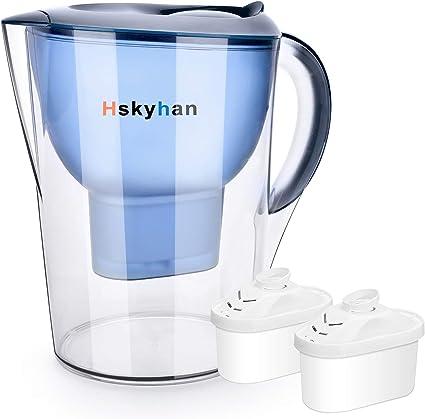Hskyhan Jarra de filtro de agua – 3,5 litros mejoran PH, libre de ...