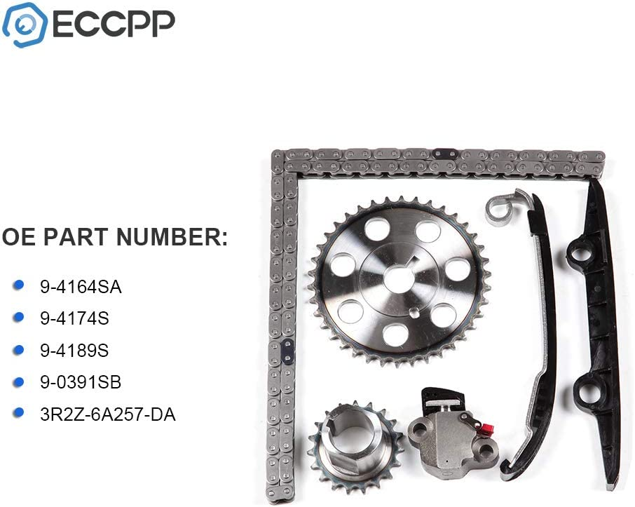 ECCPP 9-4164 Timing Chain Kits Fits with Tensioner1993 1994 1995 Saturn SC1 1996 1997 1998 Saturn SL 1996 1997 1998 Saturn SL1 1993 1994 1995 1996 1997 1998 Saturn SW1