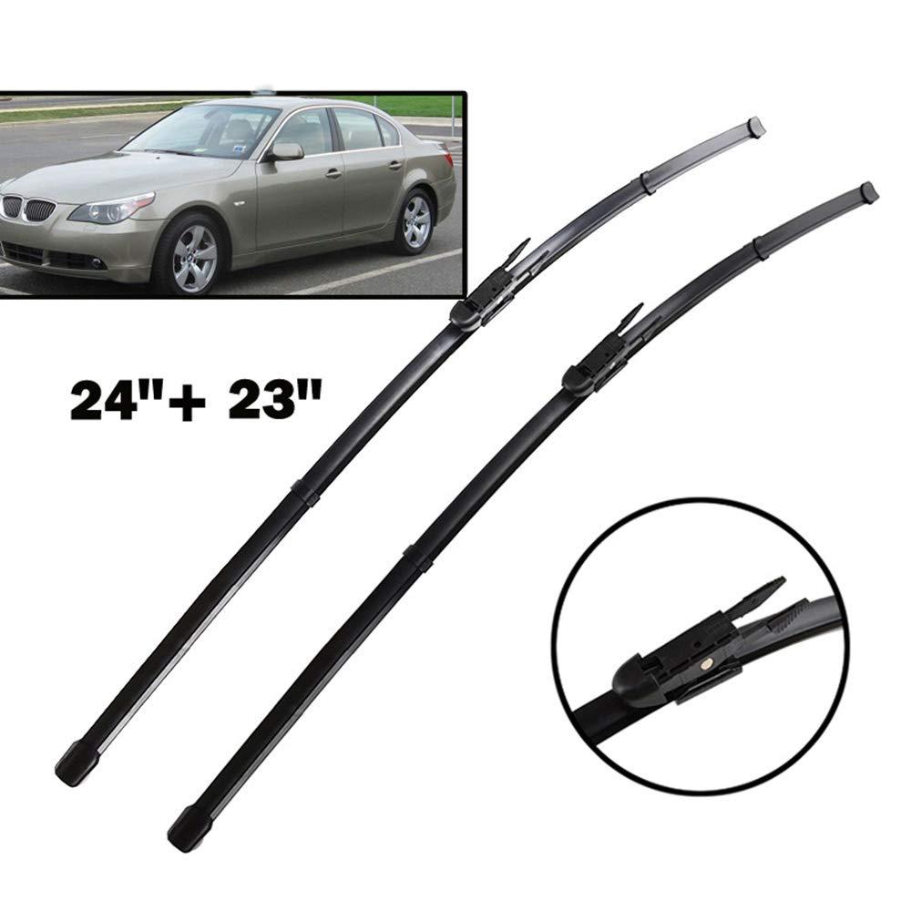 pour BMW S/érie 5 E60 E61 2003-2010 Pare-Brise Pare-Brise vitre Avant 24+23 HCDSWSN Essuie-Glaces Avant