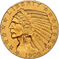 1908 P $5 Indian Gold (Proof) Five Dollar PR67 PCGS\CAC