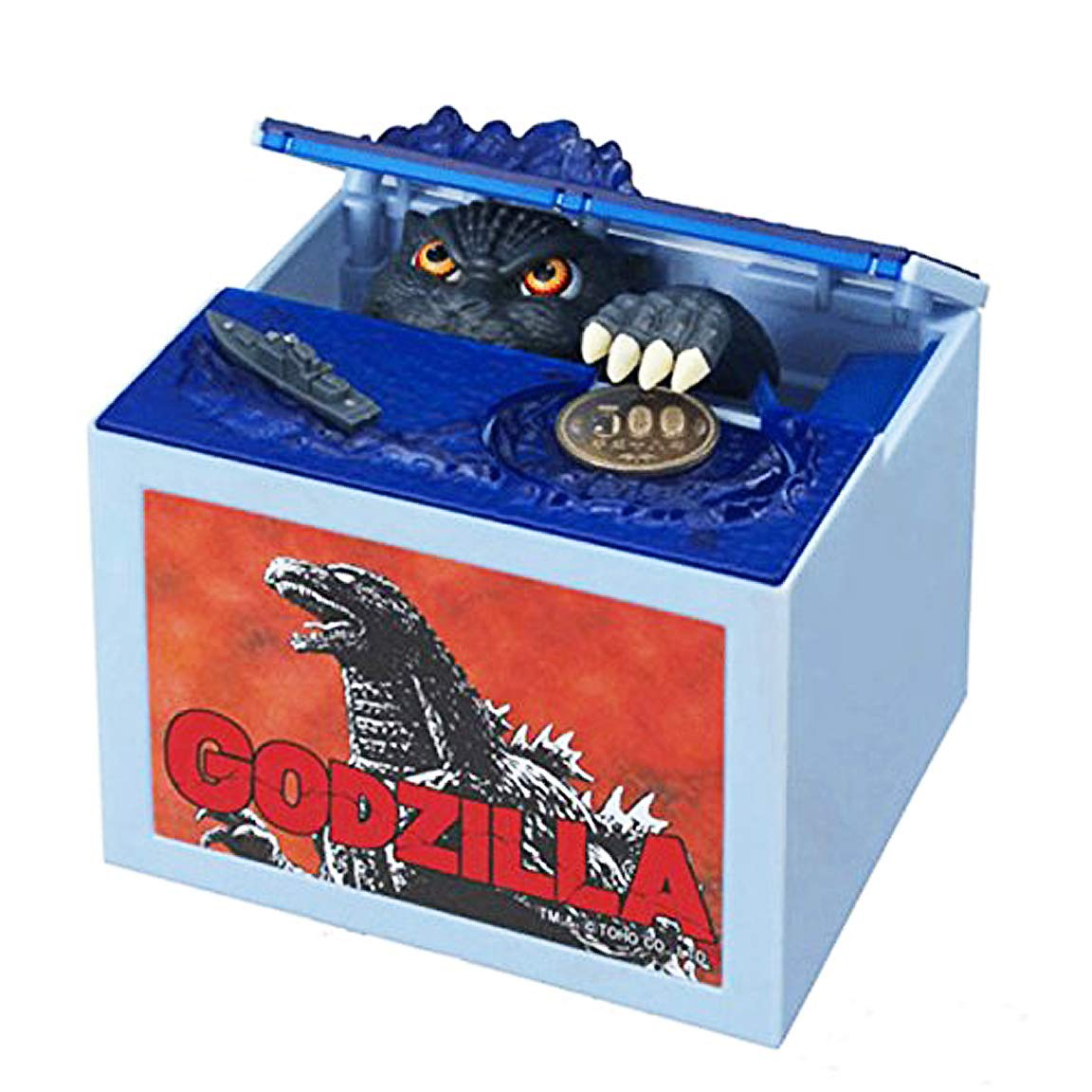 Happy Sales HSCB-GODZL, Godzilla Piggy Bank Money Bank Automatic Coin Bank Box by Happy Sales