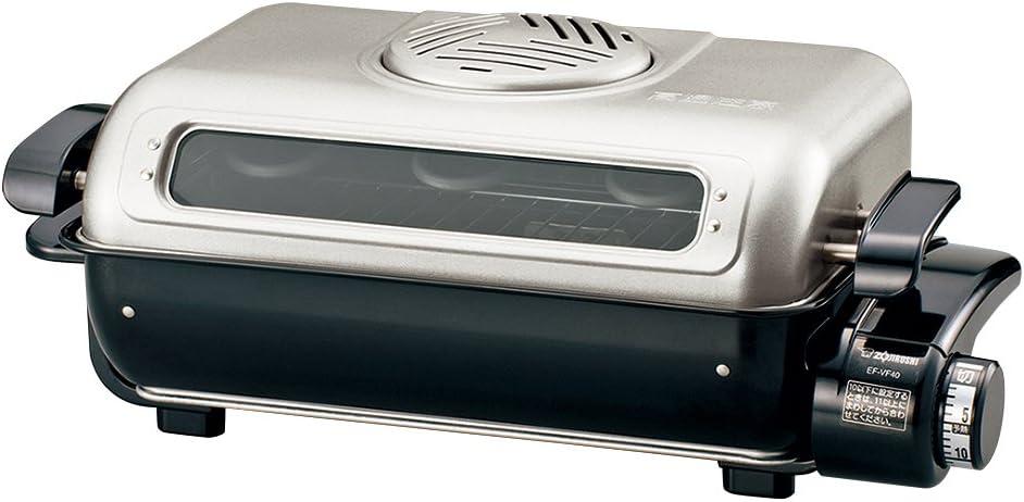 ZOJIRUSHI Fish roaster both sides grilled decomposition wash & platinum catalyst filter EF-VG40-SA