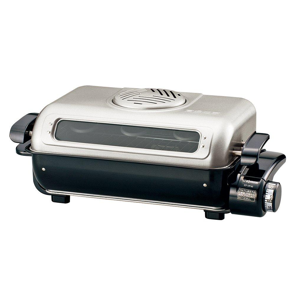 象印 フィッシュロースター 両面焼き 分解洗い&プラチナ触媒フィルター EF-VG40-SA   B0118SYLH0
