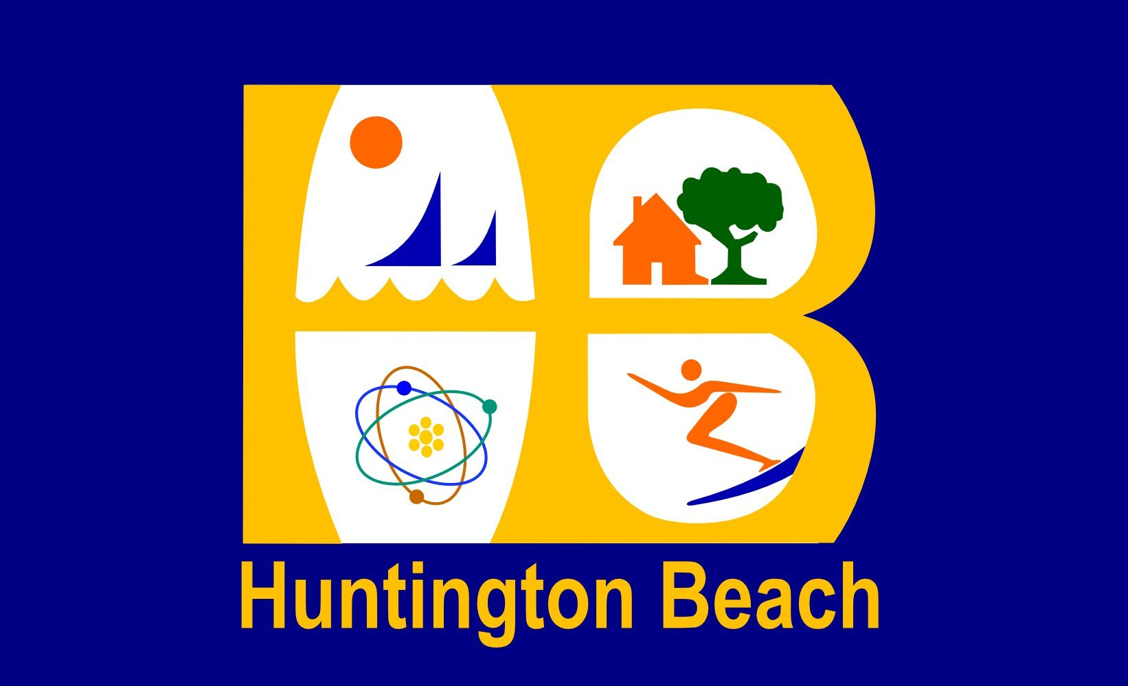 magFlags Large Flag Huntington Beach, California | Huntington Beach City | Landscape Flag | 1.35m² | 14.5sqft | 90x150cm | 3x5ft - 100% Made in Germany - Long Lasting Outdoor Flag