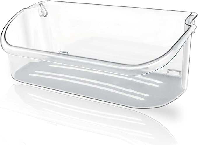 240356402 Pack of 2 Kenmore Door Shelf Bin for Frigidaire White Westinghouse Crosley by Romalon Part#240356407 240356408 240356410 891214 AP2549958 PS430122 EAP430122 Clear Plastic