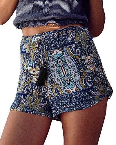 Coulisse Styledome Sportivi Pantaloncini Casual Blu Spiaggia Donna Xqnqw0vxAP