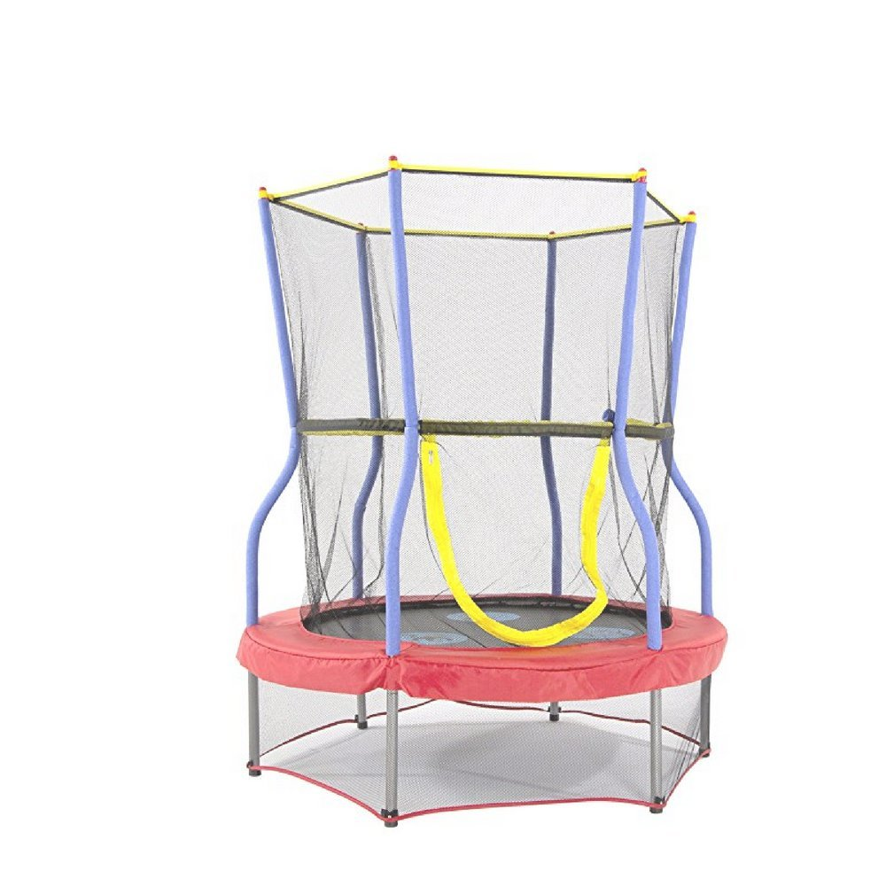 Soft Bounce Trampoline, Polypropylene Material, Premium Quality, Protective Net, Anti-Slip Surface, Safe And Fun, Sturdy And Durable Construction & E-Book Home Decor