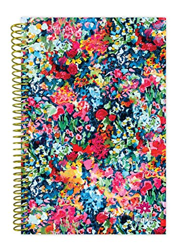 "2017-18 Academic Year Daily Planner - Passion/Goal Organizer - Monthly and Weekly Datebook and Calendar - August 2017 - July 2018 - 6"" x 8.25"" - Wildflowers"