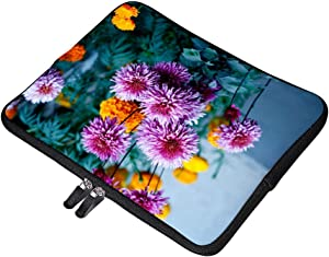 Selective Focus Photography of Purple Flower 15 Inch Neoprene Laptop Sleeve Carrying Computer Case for Laptop Ultraportable Dell HP Samsung Ultrabook