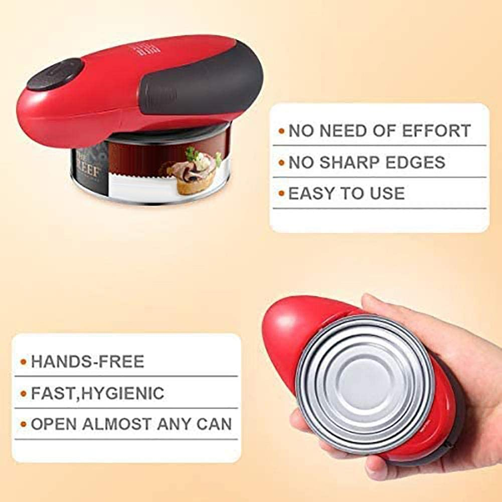 Household Steel Can Opener Suitable for Various Sizes of Cans Electric Can Opener Portable Smart Electric Bottle Opener 15CM8CM5CM