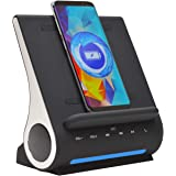 Azpen Dockall D108 Wireless Charging Dock w/Bluetooth Speakers. Qi-Certified Wireless for 7.5W Charging with iPhone Xs…