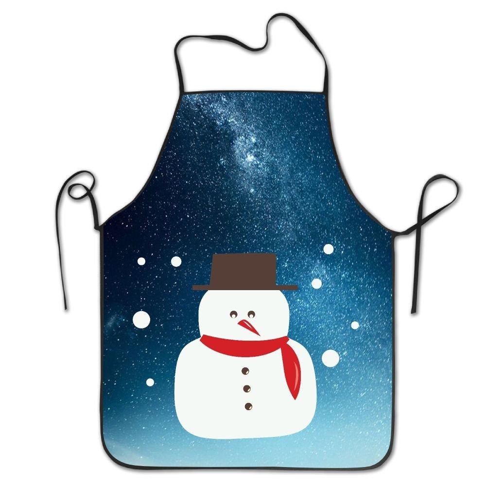 クリスマス雪だるま防水耐久性Personalizedエプロンキッチンエプロン料理Bakingエプロンよだれかけエプロン防水性と耐久性Personalizedエプロンユニセックスレディースメンズ大人シェフ   B077B9GJ16