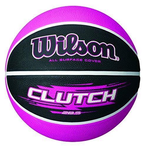 Womens Basketball (Wilson Clutch 28.5 Inch Pink/Black basketball, Intermediate Size)
