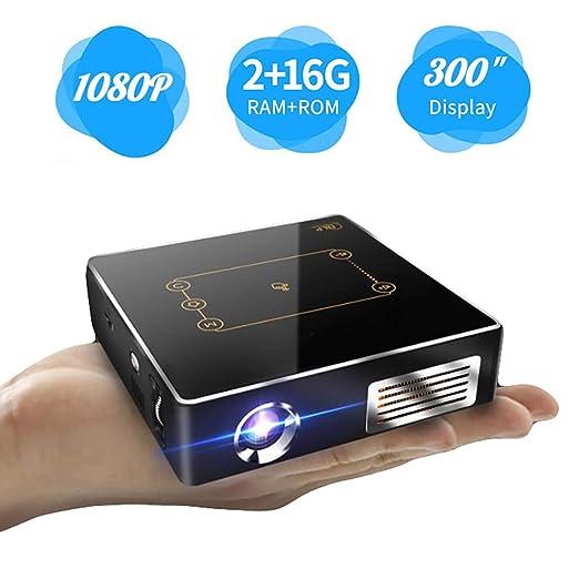 Mini proyector portátil 3d, proyector inteligente HD Home Cinema ...