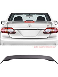 Amazon spoilers spoilers wings styling kits automotive trunk spoiler with 3rd led brake light fits 2009 2013 toyota corolla unpainted abs fandeluxe Gallery