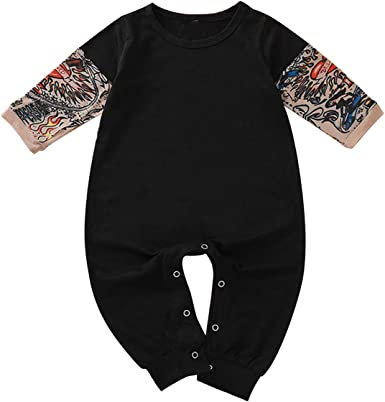 Newborn Kids Coverall Love Autism Awareness Infant Long Sleeve Romper Jumpsuit