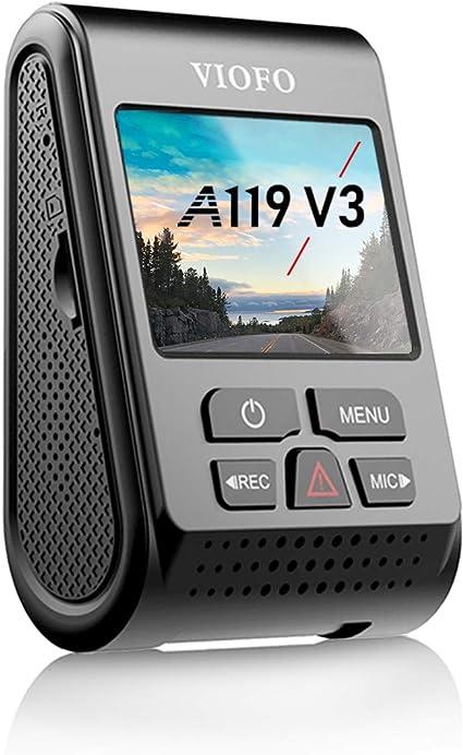 WDR 【Bundle: VIOFO A119 V3 Dash Cam HK3 Acc Hardwire Cable】 VIOFO A119 V3 Dash Cam Quad HD 1600P with GPS Super Capacitor Parking Mode Motion Detection